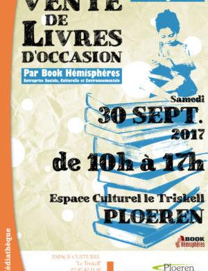 Affiche vente de livres - septembre 2017-petite